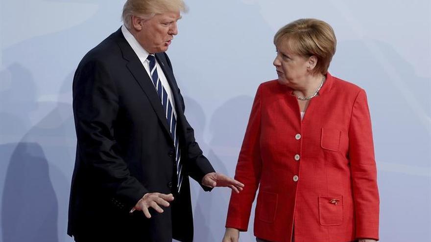 Merkel y Trump, preocupados por desarrollo armamentístico anunciado por Putin