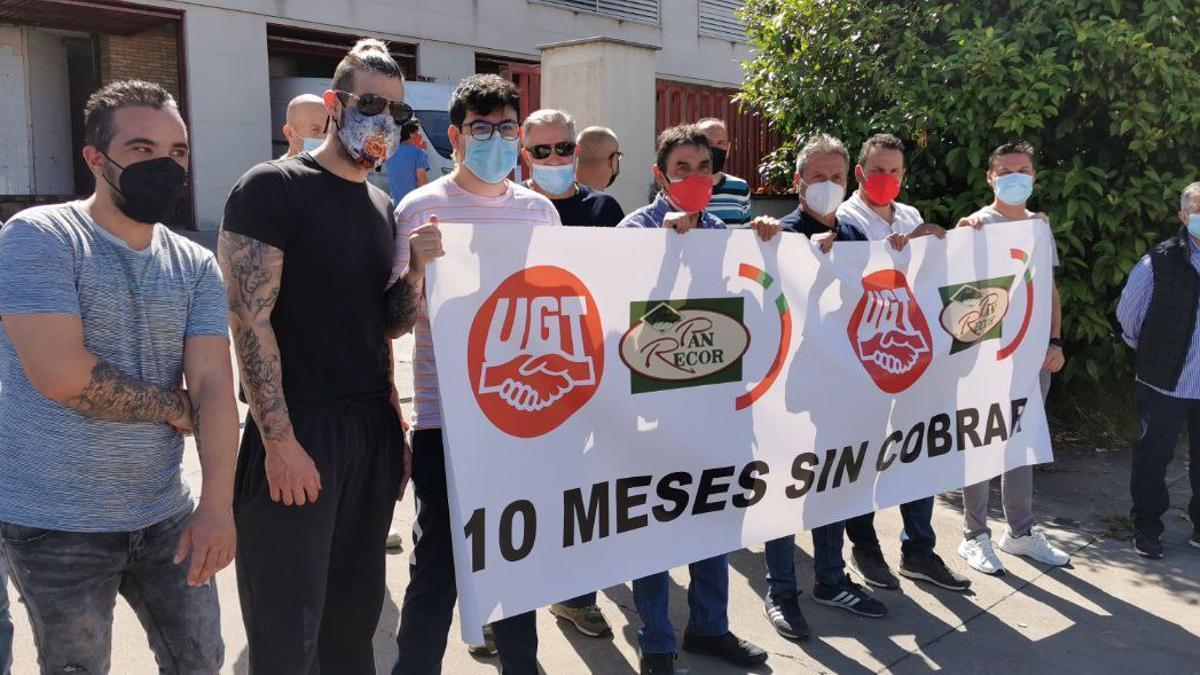 Protesta de los trabajadores de Pan Recor