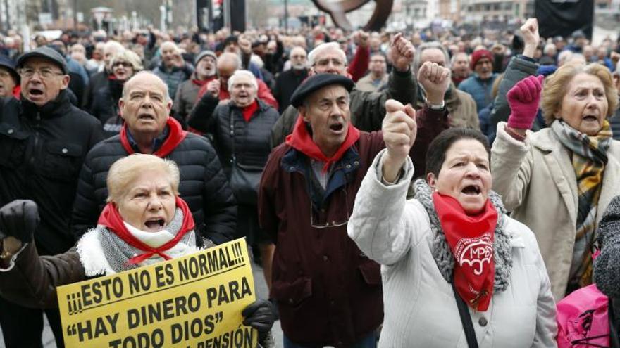 Pensionistas vascos inician el año en la calle para blindar el incremento según el IPC