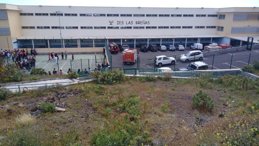 Simulacro de evacuación en el IES Las Breñas