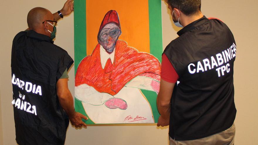 Confiscadas 500 falsificaciones de obras de Francis Bacon en Italia