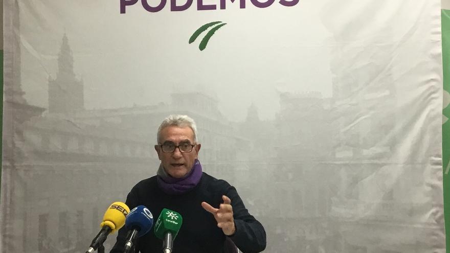 """Cañamero """"vuelve"""" a la política municipal como candidato de Podemos a la Alcaldía de El Coronil"""