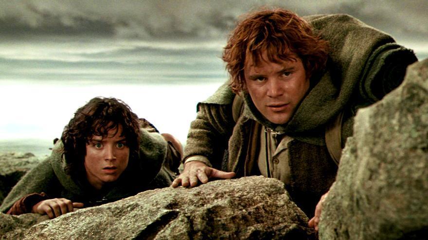 Sam y Frodo en El señor de los anillos