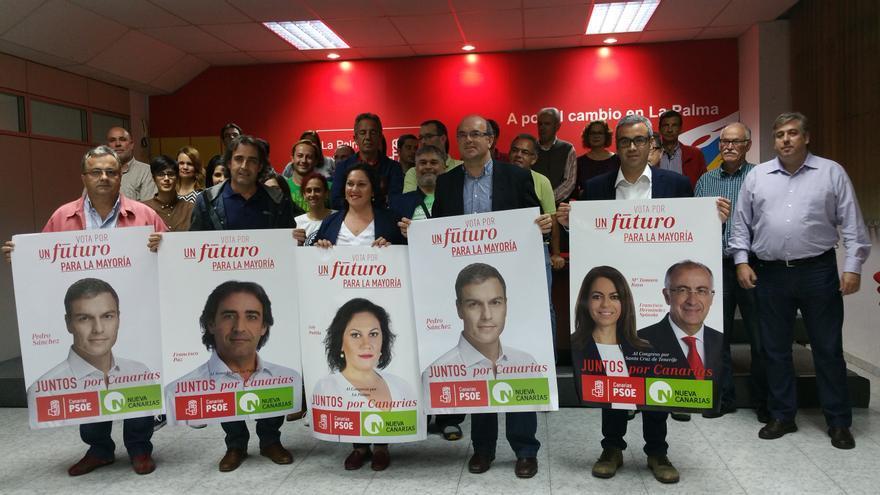 Acto de presentación de carteles del PSOE-Nueva Canarias. Foto: LUZ RODRÍGUEZ.