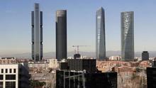 Imagen de archivo de las cuatro torres de Madrid