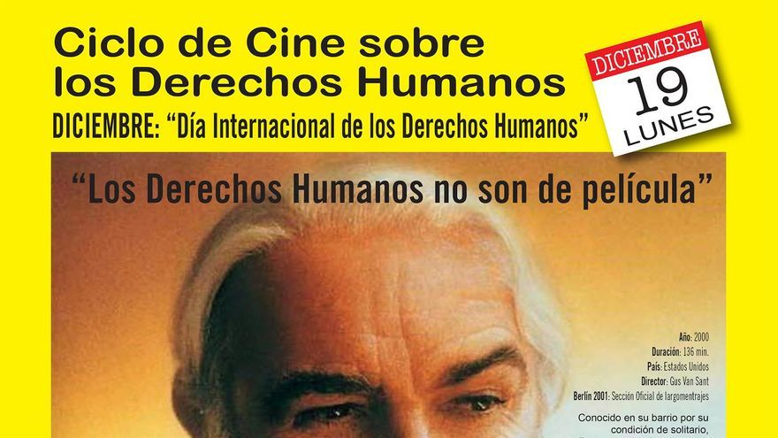 Cartel del ciclo de cine sobre derechos humanos.