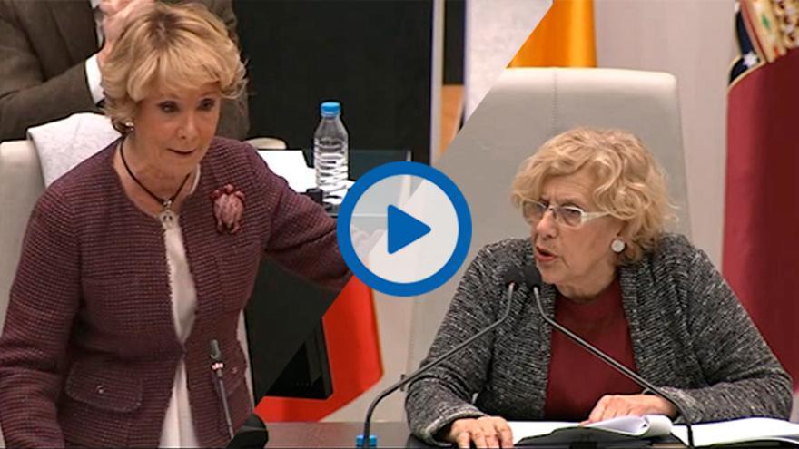 bronca Aguirre Carmena