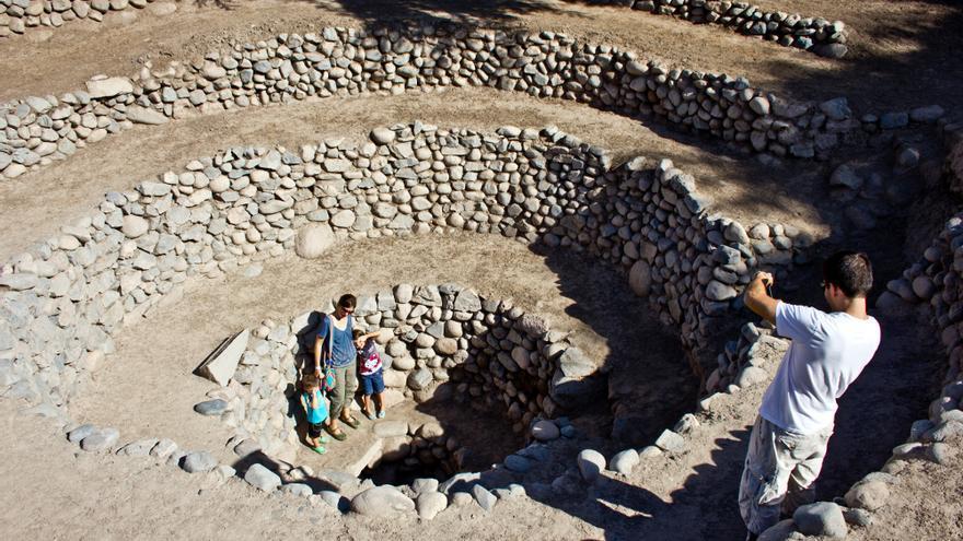Acueductos de Cantayoc, una de las infraestructuras hidráhulicas de la antigua cultura Nazca.