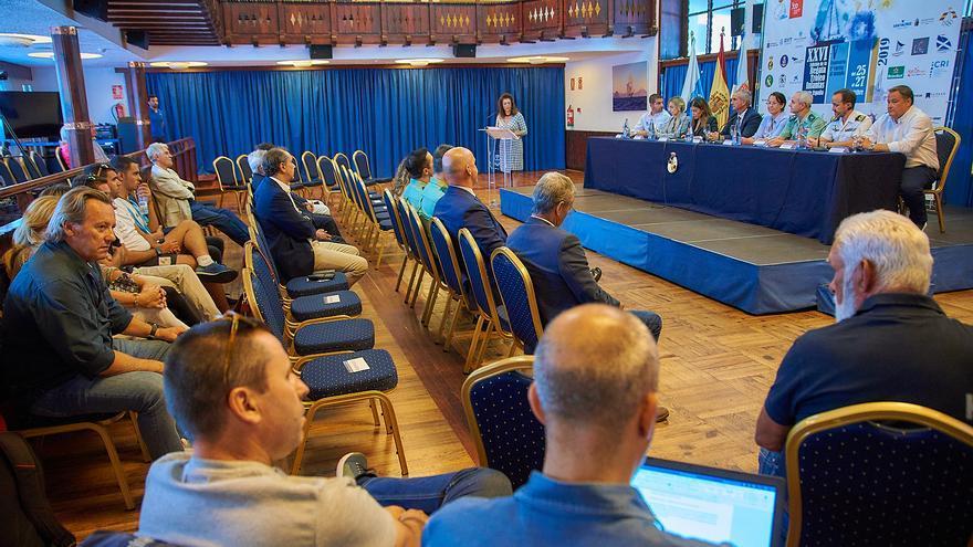 Imagen de la presentación de la Regata Infantas de España que tuvo lugar este lunes en las instalaciones del Náutico de Tenerife.