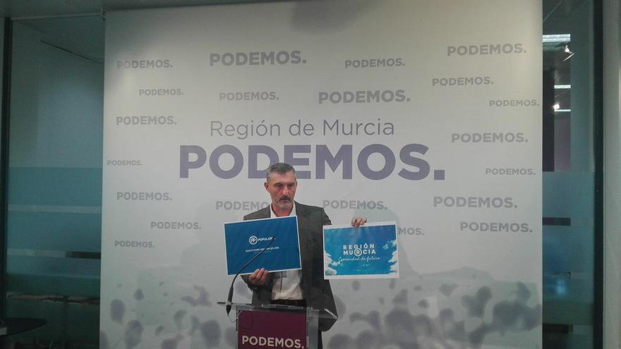 El secretario general de Podemos Región de Murcia, Óscar Urralburu