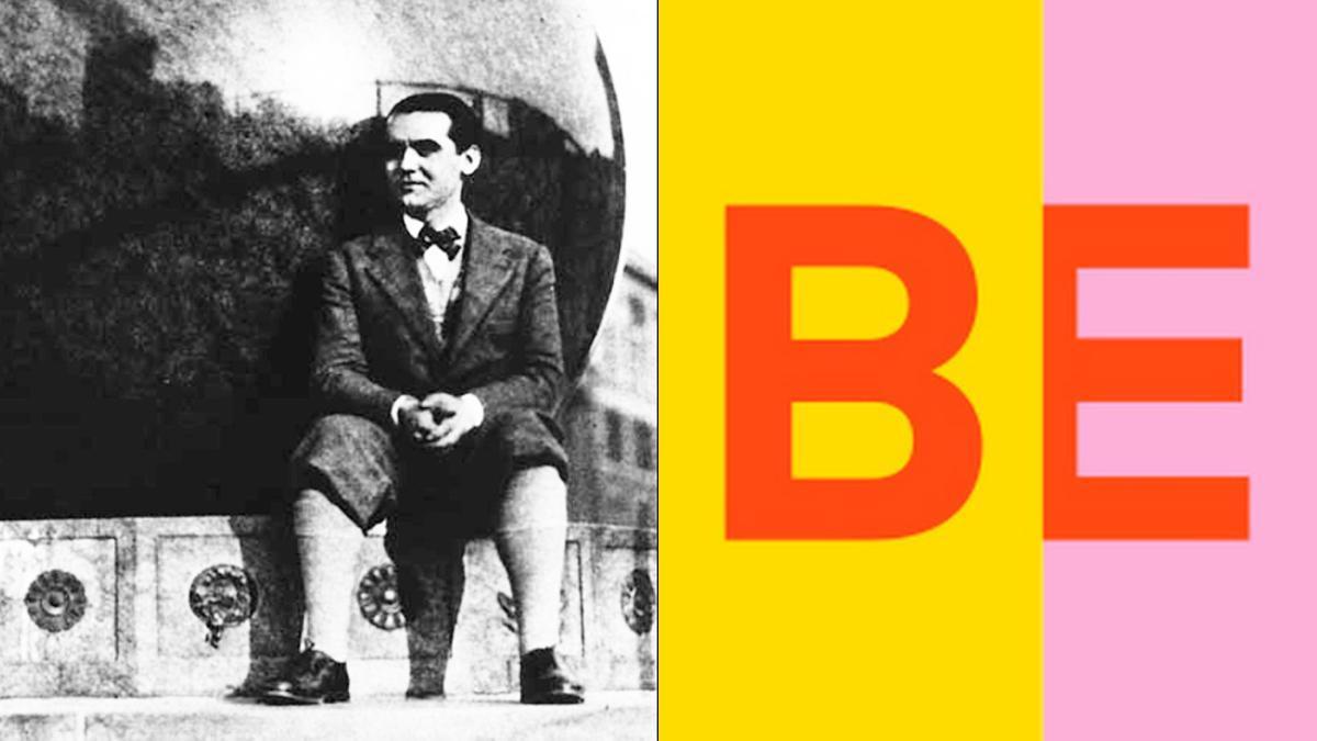 Lorca, en su visita a 'Nueva York' y el logo de Buendía Estudios