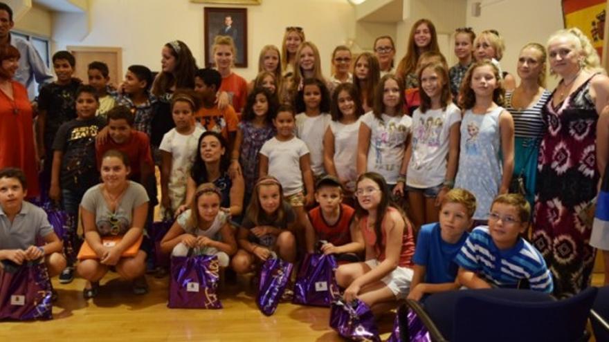 Niños saharauis y ucranianos en Ciudad Real