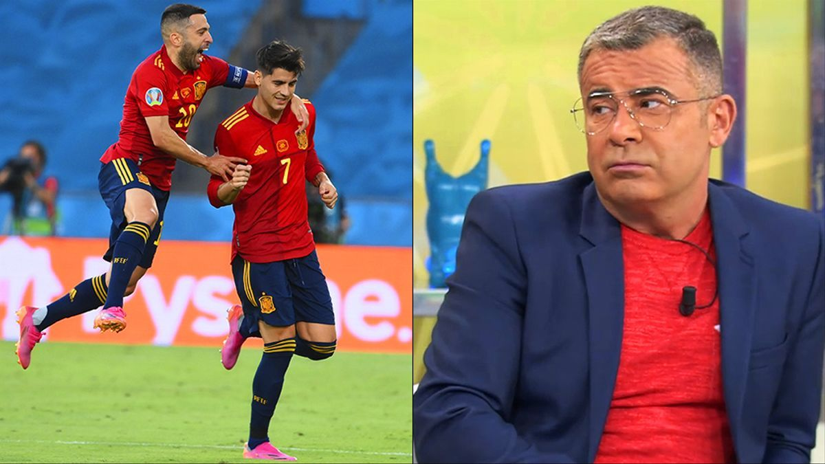 Jordi Alba y Álvaro Morata celebran un gol de España / Jorge Javier Vázquez en 'Sálvame'