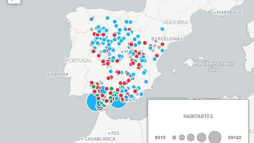Mapa alcaldes incumplidores
