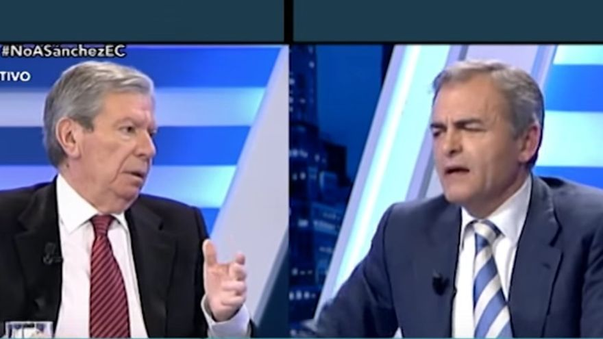 José Luis Corcuera y Carmelo Encinas, en 13TV.
