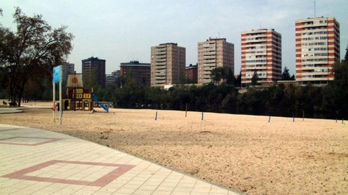 Imagen de archivo de la playa de Moreras, en Valladolid.