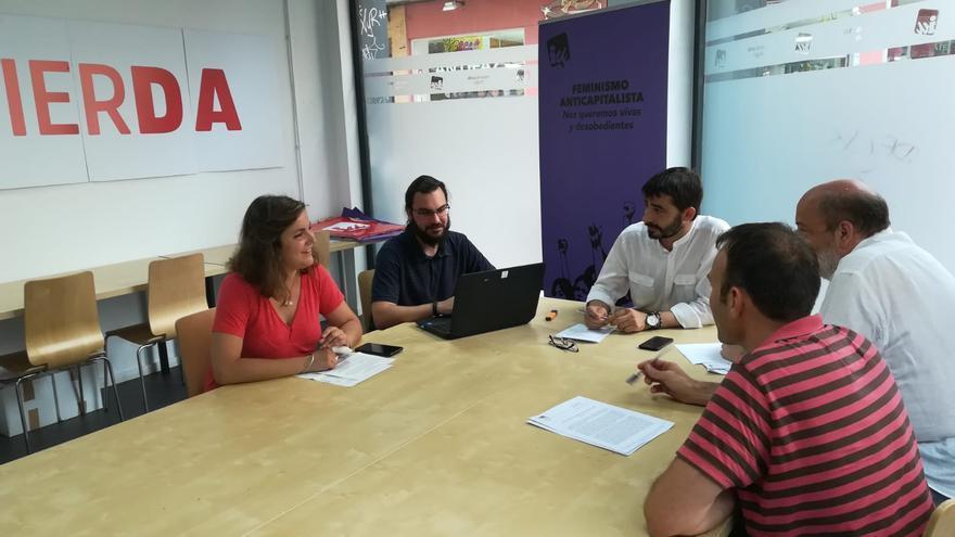 Reunión de la Colegiada de IU en Aragón, que ha tenido lugar este jueves