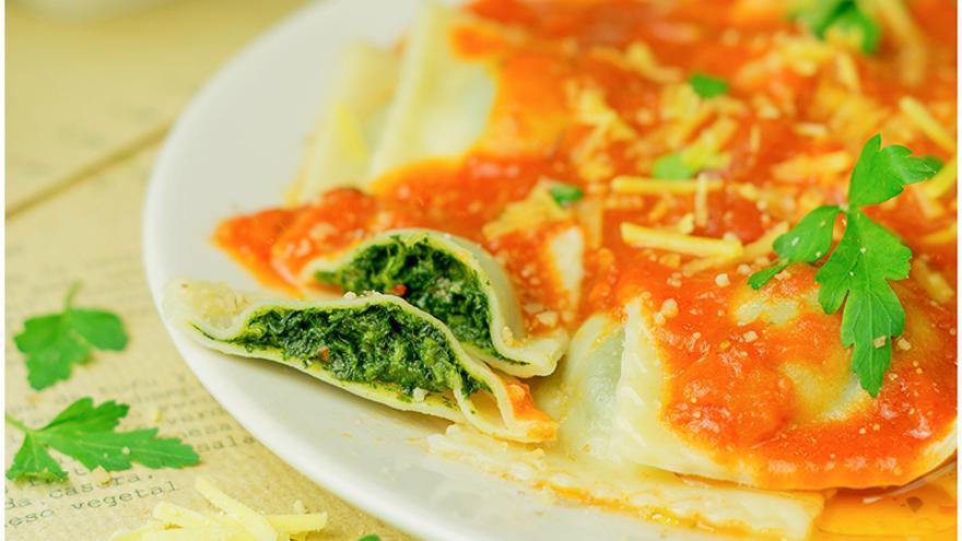 Los raviolis son uno de los platos más emblemáticos de Punto Vegano. Foto: Punto Vegano