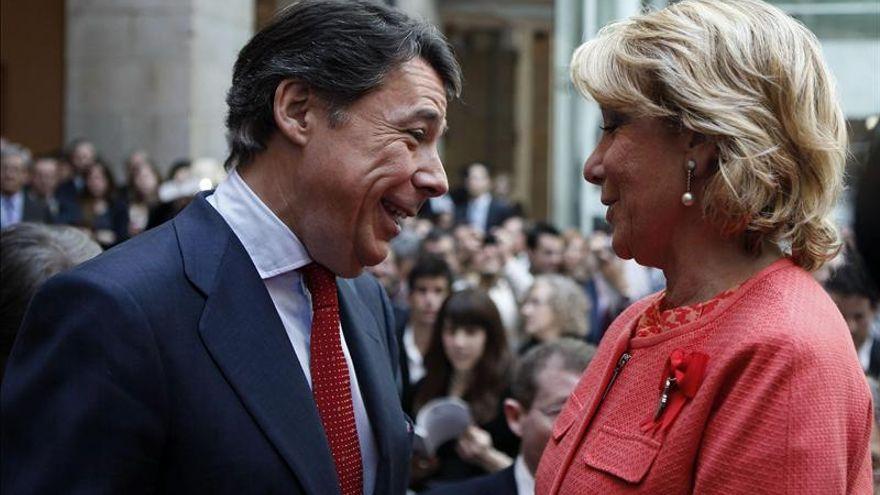 Esperanza Aguirre e Ignacio González, en una foto de archivo.