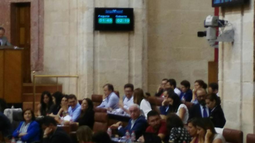 El Parlamento de Andalucía estrena marcadores de tiempo.