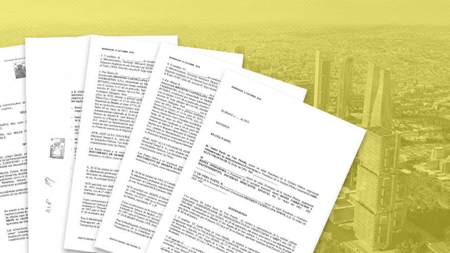 Fotomontaje con los contratos elaborado por eldiario.es.