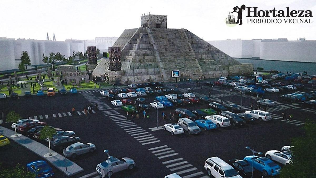 La 'Pirámide azteca' en el barrio madrileño de Hortaleza que proyecta el músico y empresario Nacho Cano / Hortaleza Periódico Vecinal