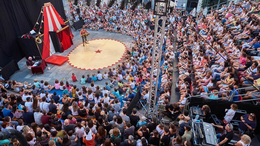Uno de los espectáculos de la Mostra de Mim de Sueca en 2018.
