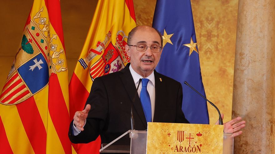 Archivo - El presidente del Gobierno de Aragón, Javier Lambán.