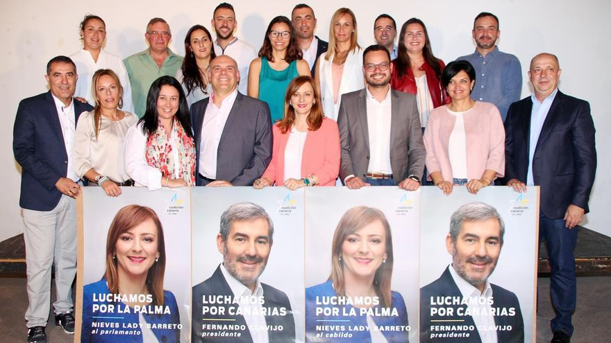 Candidatos de CC en La Palma.