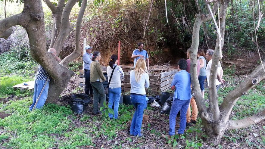 Punto de compostaje comunitario de Puntallana.
