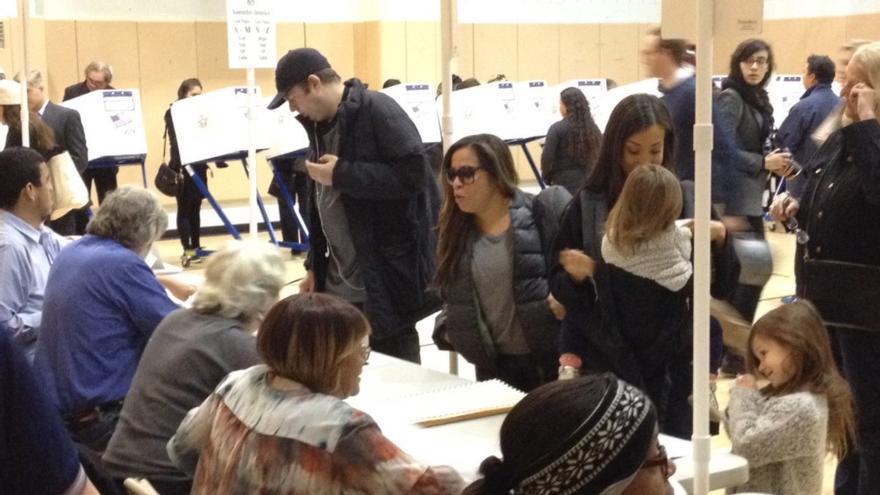 Votantes en Manhattan. Foto: Iñigo Sáenz de Ugarte