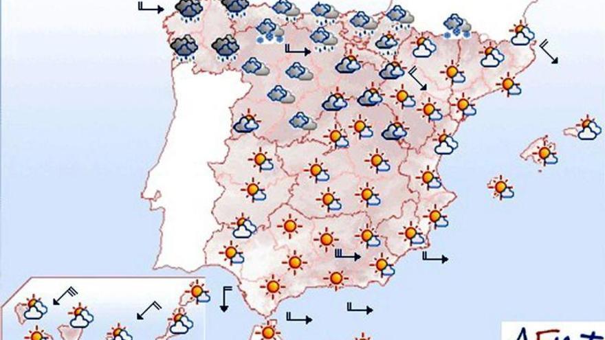 Mañana, viento fuerte en el nordeste peninsular y Canarias