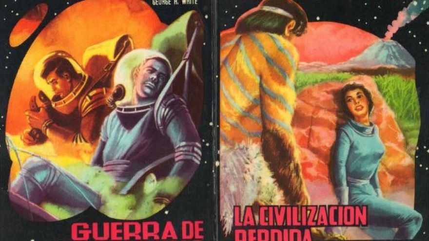 Dos ejemplares de 'La saga de los Aznar', escritos por George H. White (Pascual Enguídanos)
