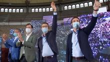 Feijóo da un máster de política electoral gallega a Casado y el líder del PP no se da por aludido