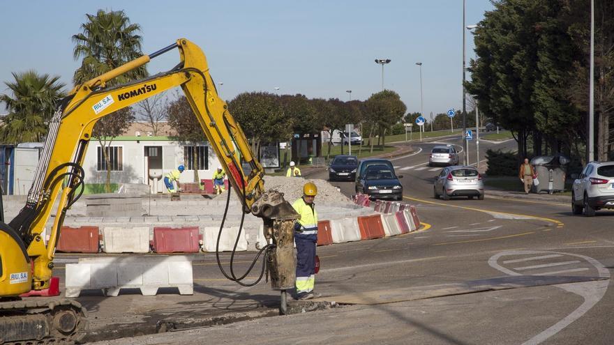 Las obras de la rotonda entre Alday y Cros concluirán a finales de enero