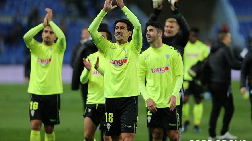 Pedro Ríos aplaude al final del partido de Copa en Málaga   LOF