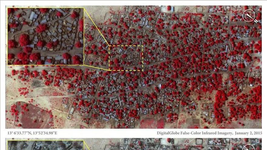 Imágenes por satélite muestran la destrucción causada por Boko Haram en Baga