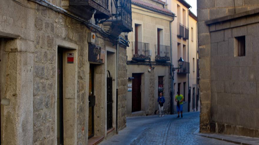 Calles del casco histórico de Ávila.