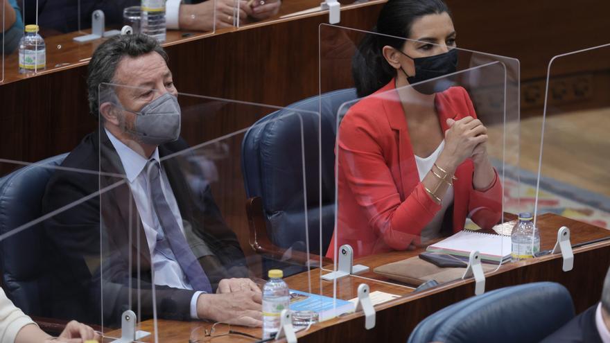La líder de Vox en Madrid, Rocío Monasterio, en el acto de constitución de la Asamblea de Madrid de la XII Legislatura, a 8 de junio de 2021, en Madrid (España). Este martes se constituye la Asamblea de Madrid tras los comicios del 4 de mayo, arrancando l