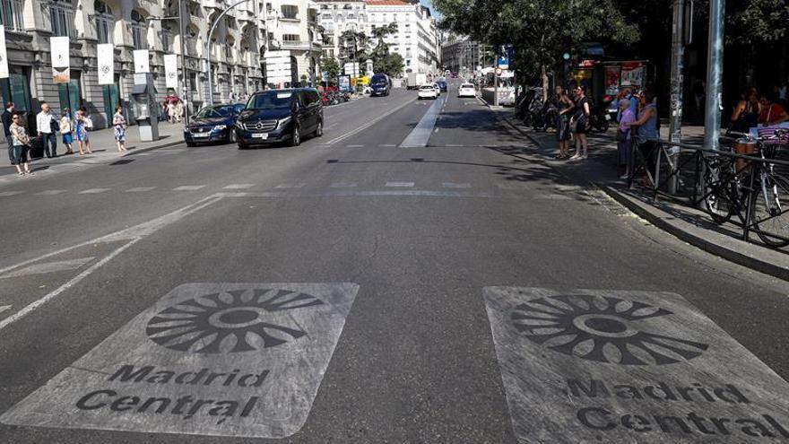 El Ayuntamiento no comenzará a multar en Madrid Central hasta el lunes