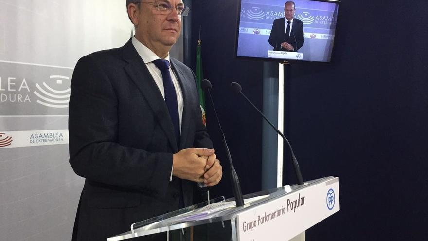 El PP no presentará enmienda a la totalidad del proyecto de Presupuestos de Extremadura para 2017