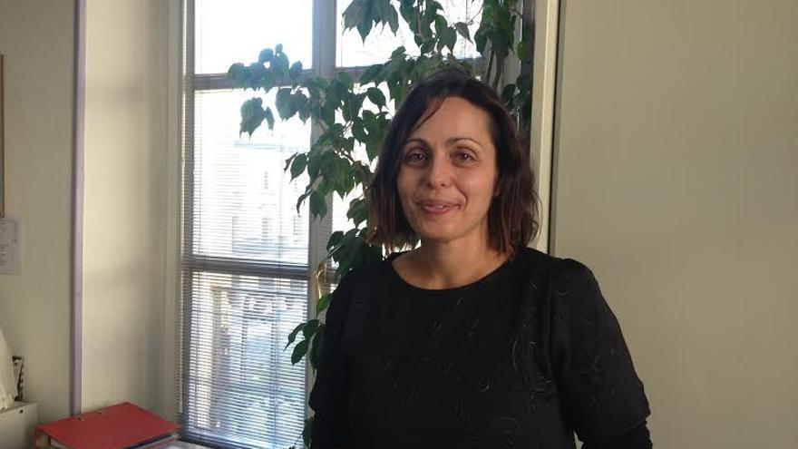 Rocío Vitero, coordinadora de Sidalava en el local de Vitoria.Gasteiz.