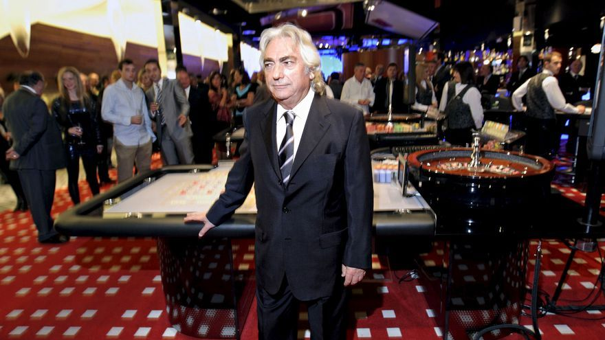 El presidente del grupo de juego y ocio Cirsa, Manuel Lao, durante la presentación de un casino en Valencia en 2010