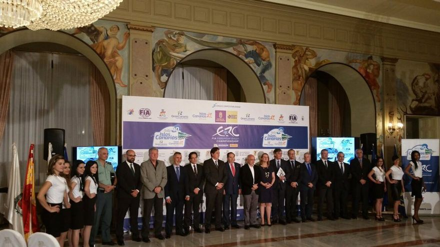 Imagen de la presentación oficial de la 40 edición del Rally Islas Canarias