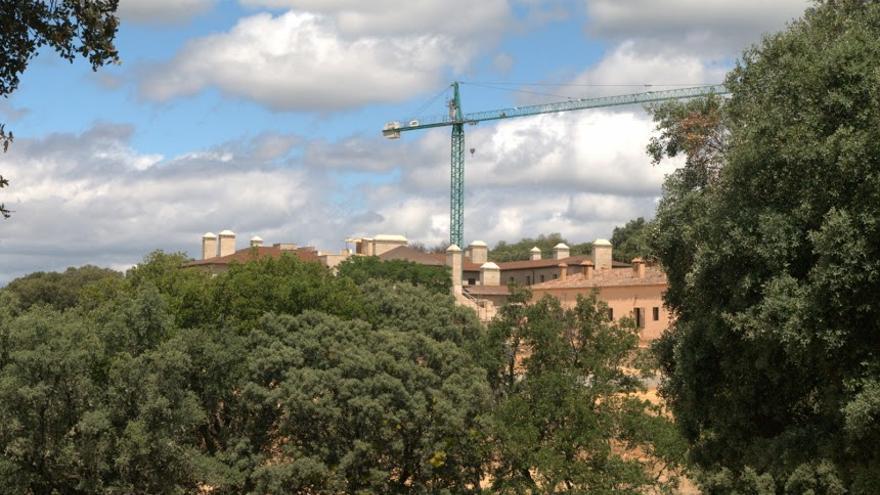 El edificio en fase de construcción.