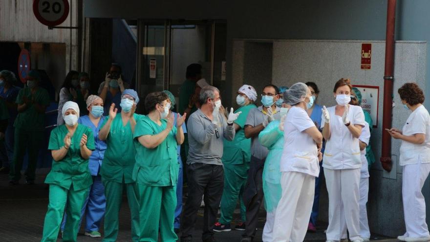 Personal sanitario en el Hospital de Toledo
