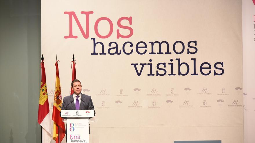 Emiliano García-Page, en el acto institucional por el Día de la Mujer / JCCM