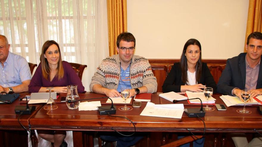 Integrantes del grupo municipal del PSOE en Tacoronte, en una imagen de archivo