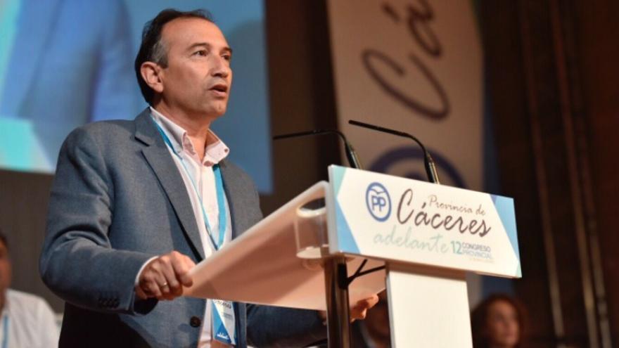Laureano León, en el XII Congreso Provincial / @PPopularCC
