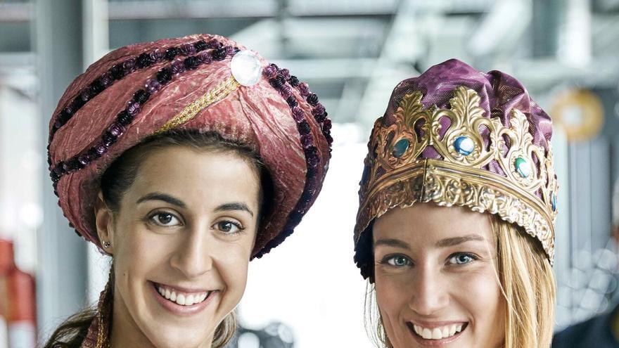 Las medallista de oro olímpico Carolina Marín y Mireia Belmonte. Foto: Asprocan.